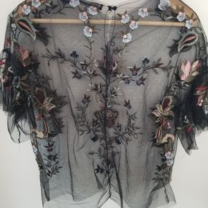 Sheer Embroidered Zara Top